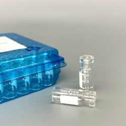 2mL 透明钳口样品瓶/带刻度书写标签,11.6* 32mm,100个/盒