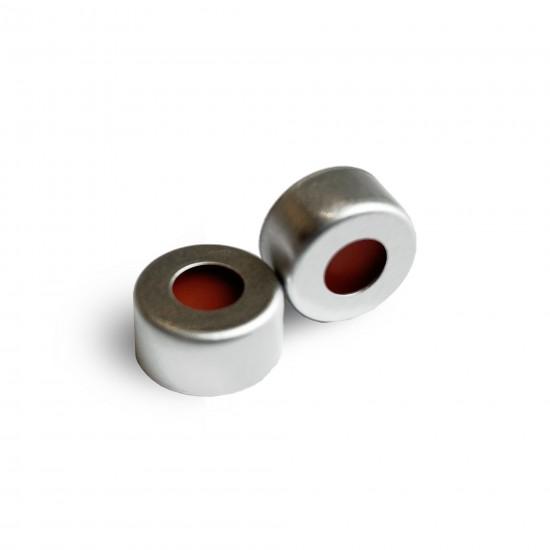 预装银色开孔铝盖,白色 PTFE/红色硅胶垫/ 11mm,φ11mm,100个/包