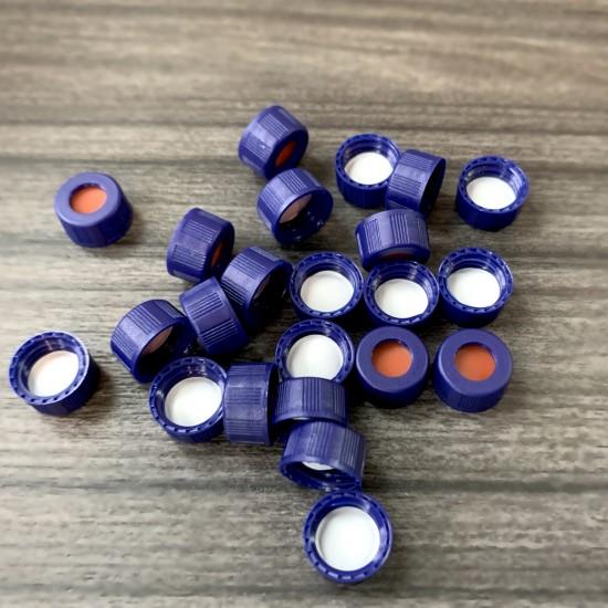 预装蓝色螺纹开孔盖;白色PTFE/红色硅胶垫/9mm口径,φ9mm,100个/包