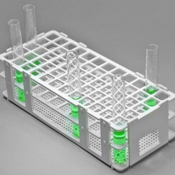 Bel-Art No-Wire Test Tube Rack; For 13-16mm Tubes, 60 Places, White