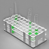 Bel-Art No-Wire Test Tube Rack; For 16-20mm Tubes, 40 Places, White