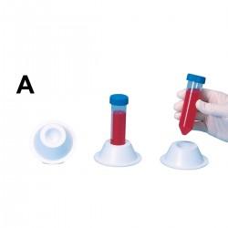 Bel-Art Conical Tube Holder; For 50ml Tubes, Non-Grip Style, Polystyrene, White (Pack of 5)