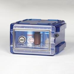 Bel-Art Secador Clear 1.0 Vertical Desiccator Cabinet with Blue End-Caps; 0.7 cu. ft.