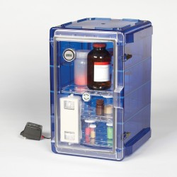 Bel-Art Secador Vertical Profile Blue 4.0 Auto-Desiccator Cabinet with Clear Door; 230V, 1.9 cu. ft.
