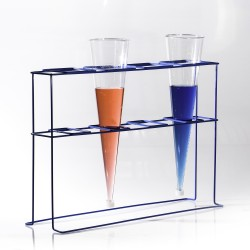 Bel-Art Poxygrid Imhoff Cone Rack; 4 Places, 22³⁄₄ x 6³⁄₄ x 16 in.
