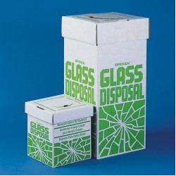 Bel-Art Cardboard Disposal Cartons for Glass; 8 x 8 x 10 in., Benchtop Model (Pack of 6)