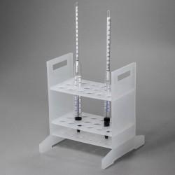 Bel-Art Hydrometer Rack; For Long Hydrometers, 18 Places, Polypropylene