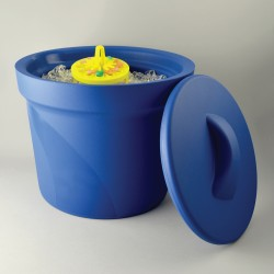 Bel-Art Magic Touch 2 High Performance Blue Ice Bucket; 4.0 Liter, With Lid