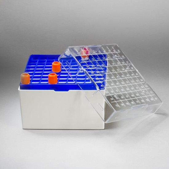 Bel-Art ProCulture Cryogenic Vial Storage Box; 81 Places, For 5.0ml Tubes (Pack of 4)