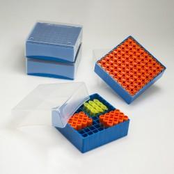 Bel-Art Polypropylene Freezer Box; For 1.5-2.0ml Micro Tubes/Cryo Vials, 81 Places (Pack of 4)