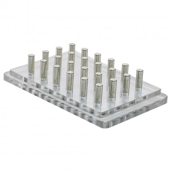 Bel-Art Magnetic Bead Separation Rack for 96-Well PCR Tube Plate
