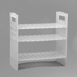 Bel-Art Pipette Support Rack; 16mm, 50 Places, 8⅜ x 4½ x 8¾ in., Polypropylene