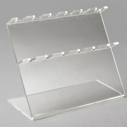 Bel-Art Pipettor Stand; 6 Places, 12 x 5 x 9½ in., Acrylic