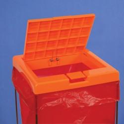 Bel-Art Clavies Orange Biohazard Bag Holder Cover for F13192-0002 and F13192-0003
