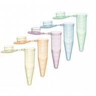 1.5 mL SuperClear® Microcentrifuge Tubes with Extra Large Attached Caps, Assorted Colors, in Resealable Bags