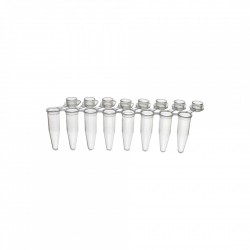 PurePlus® 0.2 mL 8-Well PCR Tube Strips with Individually Attached Bubble Caps, in Bags