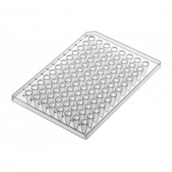 PurePlus® 0.2 mL 96 Well PCR Plates with Half Skirt for ABI® Thermocyclers, Includes Barcode